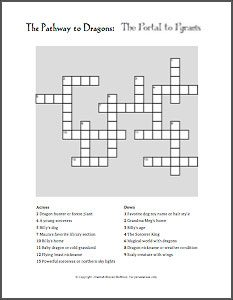 Pathway to Dragons Crossword